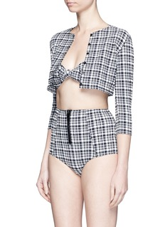 LISA MARIE FERNANDEZ 'Poppy' plaid twin set seersucker bikini