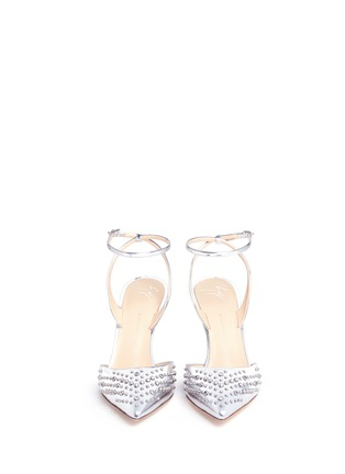 Front View - Click To Enlarge - Giuseppe Zanotti Design - Stud mirror leather pumps