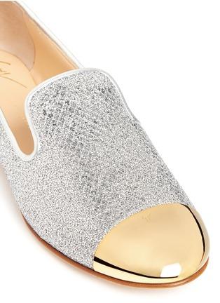 Giuseppe Zanotti Design-'Dalila' glitter mesh slip-ons
