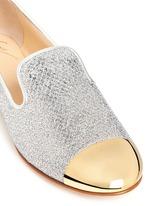 'Dalila' glitter mesh slip-ons