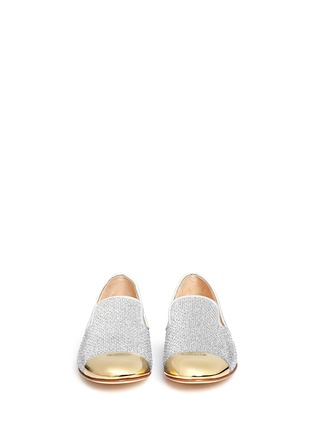 Front View - Click To Enlarge - Giuseppe Zanotti Design - 'Dalila' glitter mesh slip-ons