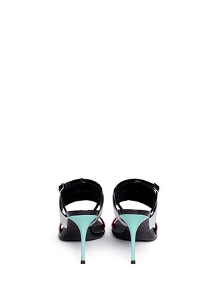 Back View - Click To Enlarge - Giuseppe Zanotti Design - 'Mistico' leather slingback sandals