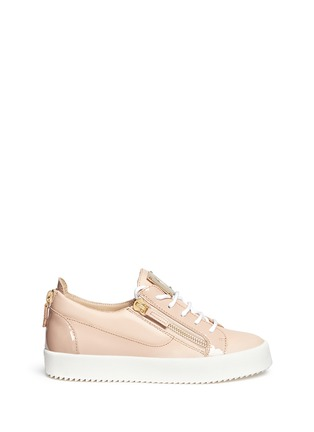 Main View - Click To Enlarge - Giuseppe Zanotti Design - 'London' leather low top sneakers
