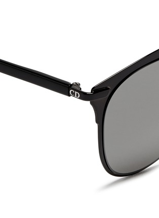 Detail View - Click To Enlarge - Dior - 'Reflected' acetate temple metal veneer aviator sunglasses