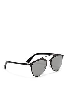 DIOR'Reflected' acetate temple metal veneer aviator sunglasses