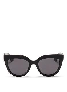 DIOR'Soft 1' matte brow bar acetate cat eye sunglasses