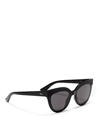 Figure View - Click To Enlarge - Dior - 'Soft 1' matte brow bar acetate cat eye sunglasses
