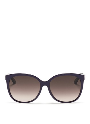 Main View - Click To Enlarge - Dior - 'Montaigne' colourblock acetate oversize butterfly sunglasses