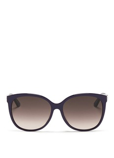 DIOR 'Montaigne' colourblock acetate oversize butterfly sunglasses