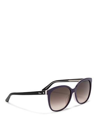 Dior-'Montaigne' colourblock acetate oversize butterfly sunglasses