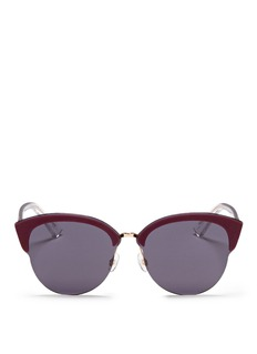 DIOR 'Diorun' acetate brow bar rimless sunglasses