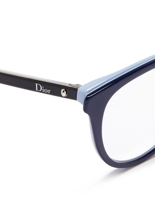 Detail View - Click To Enlarge - Dior - 'Montaigne' colourblock acetate cat eye optical glasses