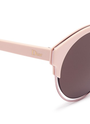 Detail View - Click To Enlarge - Dior - 'Sideral 1' metallic rim acetate cat eye sunglasses