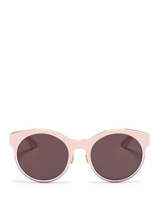 Main View - Click To Enlarge - Dior - 'Sideral 1' metallic rim acetate cat eye sunglasses