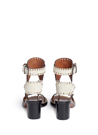 Back View - Click To Enlarge - Isabel Marant - 'Jaeryn' eyelet suede sandals
