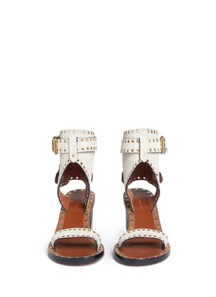Front View - Click To Enlarge - Isabel Marant - 'Jaeryn' eyelet suede sandals