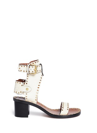 Main View - Click To Enlarge - Isabel Marant - 'Jaeryn' eyelet suede sandals