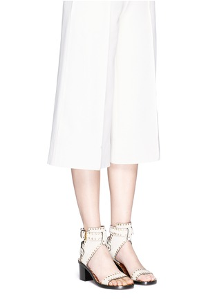 Figure View - Click To Enlarge - Isabel Marant - 'Jaeryn' eyelet suede sandals
