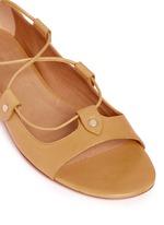 'Alisa' vegetal leather lace-up gladiator sandals