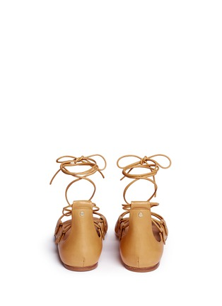 Back View - Click To Enlarge - Isabel Marant - 'Alisa' vegetal leather lace-up gladiator sandals