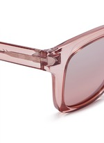 'Rockstud' square frame acetate sunglasses