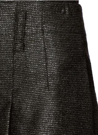 细节 - 点击放大 - ALICE + OLIVIA - 金属条纹褶裥高腰短裤