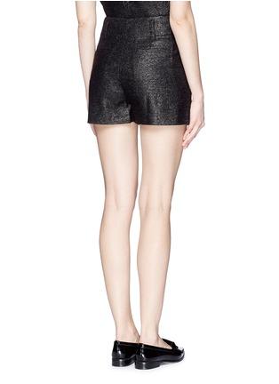 背面 - 点击放大 - ALICE + OLIVIA - 金属条纹褶裥高腰短裤