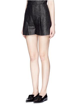 正面 -点击放大 - ALICE + OLIVIA - 金属条纹褶裥高腰短裤