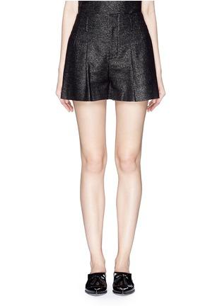 首图 - 点击放大 - ALICE + OLIVIA - 金属条纹褶裥高腰短裤
