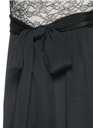 细节 - 点击放大 - ALICE + OLIVIA - 蕾丝拼贴小立领连体裤