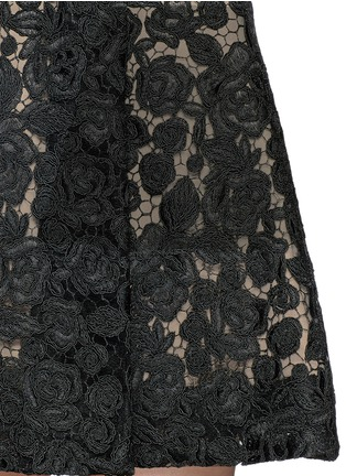 Detail View - Click To Enlarge - alice + olivia - 'Amie' floral lace skirt stretch dress