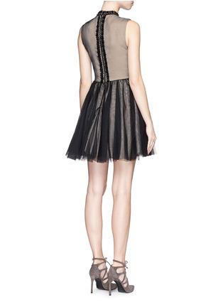 Back View - Click To Enlarge - alice + olivia - 'Taya' embellished bodice tulle dress