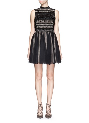 Main View - Click To Enlarge - alice + olivia - 'Taya' embellished bodice tulle dress