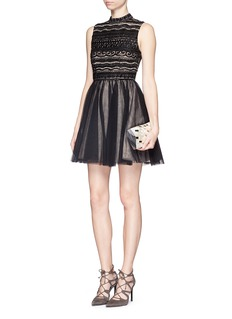 ALICE + OLIVIA 'Taya' embellished bodice tulle dress