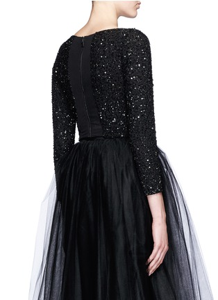 Back View - Click To Enlarge - alice + olivia - 'Lacey' embellished cropped top