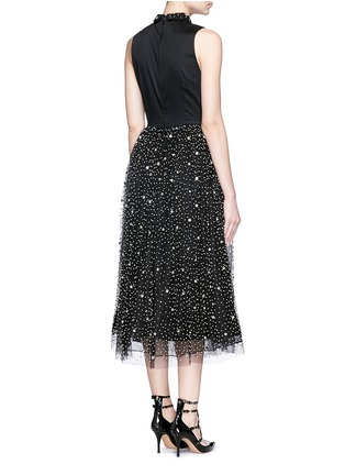 Back View - Click To Enlarge - alice + olivia - 'Rosy' embellished collar combo midi dress