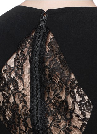Detail View - Click To Enlarge - alice + olivia - 'Kiara' lace back ostrich feather dress