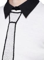 'Sim' embellished tie intarsia sweater