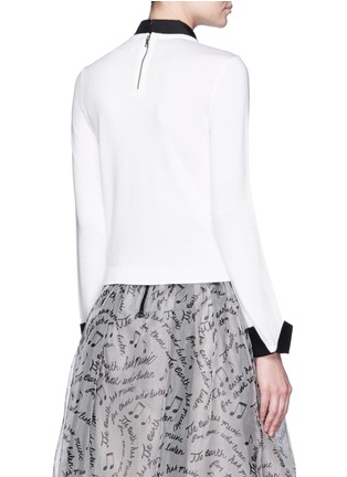 Back View - Click To Enlarge - alice + olivia - 'Sim' embellished tie intarsia sweater