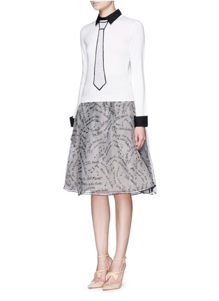 Figure View - Click To Enlarge - alice + olivia - 'Sim' embellished tie intarsia sweater