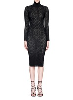 'Fergie' lacework wool knit dress