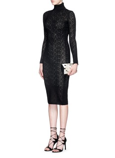 ALICE + OLIVIA 'Fergie' lacework wool knit dress