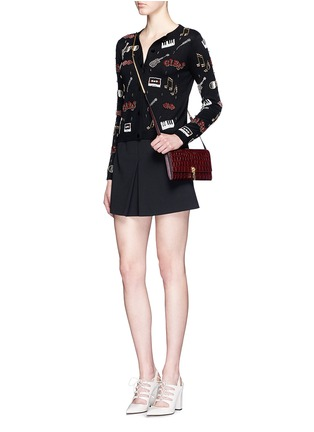 Figure View - Click To Enlarge - alice + olivia - 'Tae Rock + Roll' rhinestone cotton cardigan