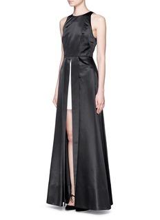 ALICE + OLIVIA'Clarabelle' skirt insert satin gown
