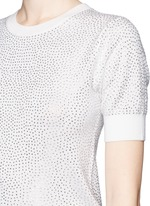 'Echo' rhinestone embellished wool sweater