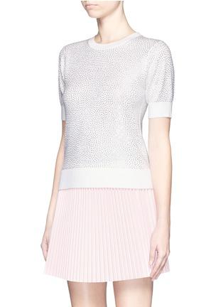 alice + olivia-'Echo' rhinestone embellished wool sweater