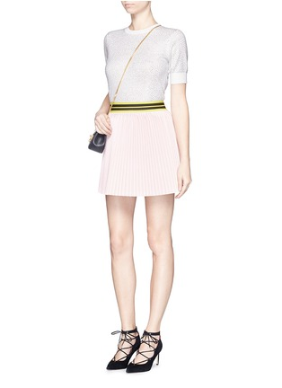 模特儿示范图 - 点击放大 - ALICE + OLIVIA - 仿水晶羊毛针织衫