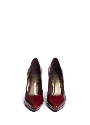 Figure View - Click To Enlarge - Stuart Weitzman - 'Logopower' collar stud patent leather pumps