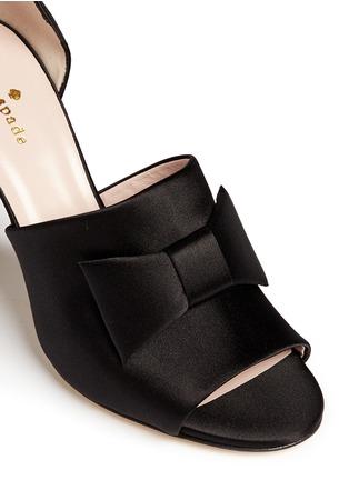 Detail View - Click To Enlarge - Kate Spade - 'Idda' bow satin sandals