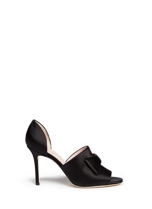 Main View - Click To Enlarge - Kate Spade - 'Idda' bow satin sandals